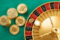 Depicting using Bitcoin to play Roulette